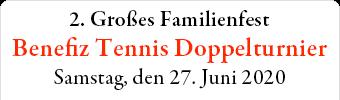 Banner Benefiz Tennistournier